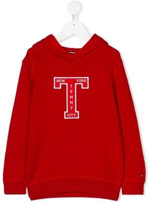 Tommy Hilfiger Junior logo print hoodie