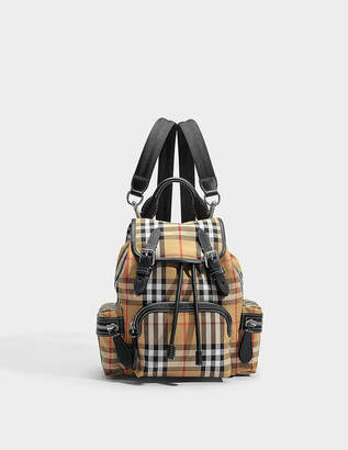 Burberry Small Vintage Check Sailing Canvas Rucksack Backpack in Antique Yellow Canvas