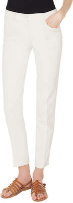 Akris Slim-Leg Cotton-Stretch Pants
