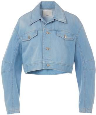 Tibi Vintage Stone Wash Denim Cropped Jacket
