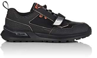 Prada Men's Rubber-Strap Leather & Mesh Sneakers