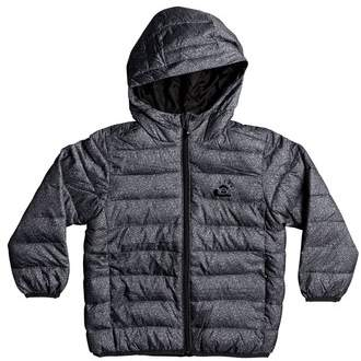 Scaly Water-Resistant Hooded Puffer Jacket