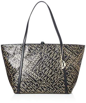 0bcafa45141a Armani Exchange Gold Logo Shopping Bag Women s Tote