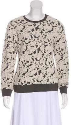 Rebecca Taylor Jacquard Bouclé Sweater