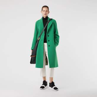 Burberry Wool Blend Tailored Coat
