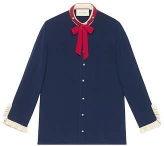 Gucci Silk shirt with neck tie
