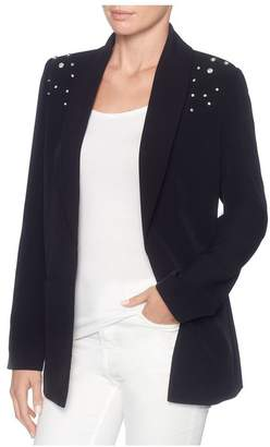 Magaschoni Long Sleeve Open Front Blazer