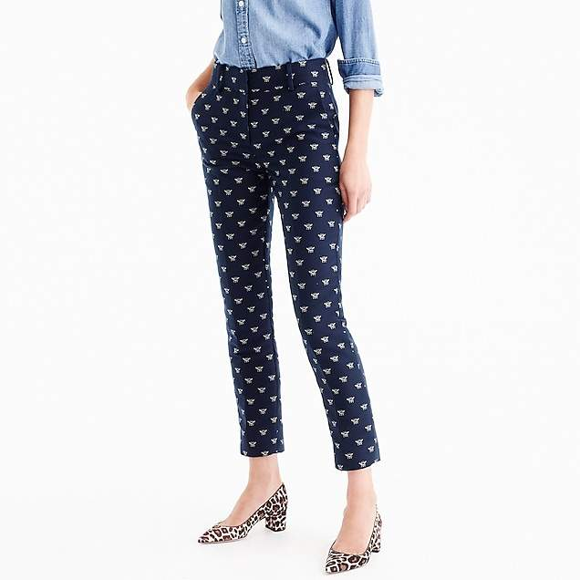 Cropped pant in bumblebee jacquard