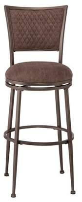 Hillsdale Furniture Burke Swivel Bar Stool, Distressed Pewter Finish