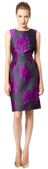 Vera Wang Jacquard Dress