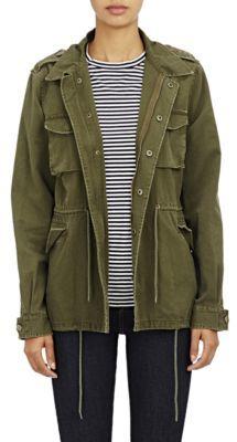 Barneys New York Women's Canvas Army Jacket-GREEN $425 thestylecure.com
