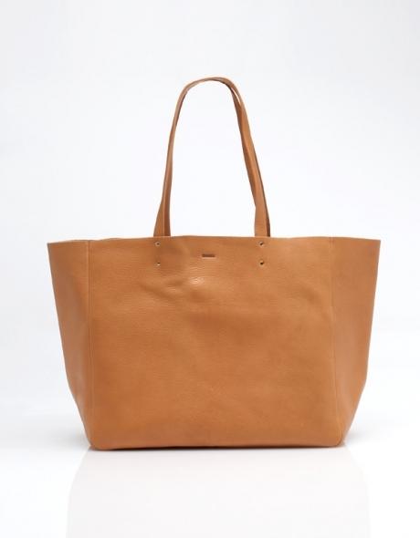 Baggu Leather Tote in Natural