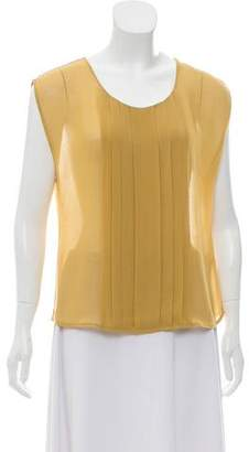 Robert Rodriguez Sleeveless Pleated Top