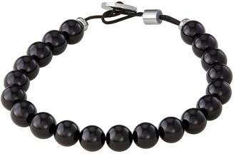 Vera Wang Simply Vera Men's Black Agate Bead Bracelet