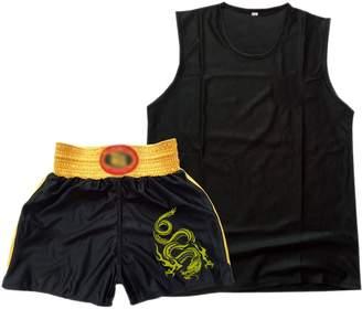 KINDOYO Unisex Kids Adult Boxing Uniform Clothes Shorts Top Martial Arts Suits
