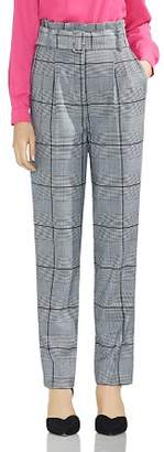 Vince Camuto Glen Plaid Paperbag-Waist Pants