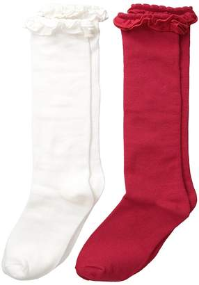 Jefferies Socks Ruffle Knee High Socks 2-Pair Pack Girls Shoes