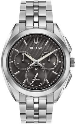 Bulova Men's CURV Stainless Steel Chronograph Watch - 96A186