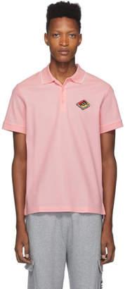 Burberry Pink Logo Aiden Polo