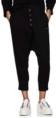 Yohji Yamamoto Regulation Women's Cotton Drop-Rise Crop Jogger Pants