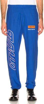 Heron Preston CTNMB Sweatpants in Light Blue & Pink   FWRD