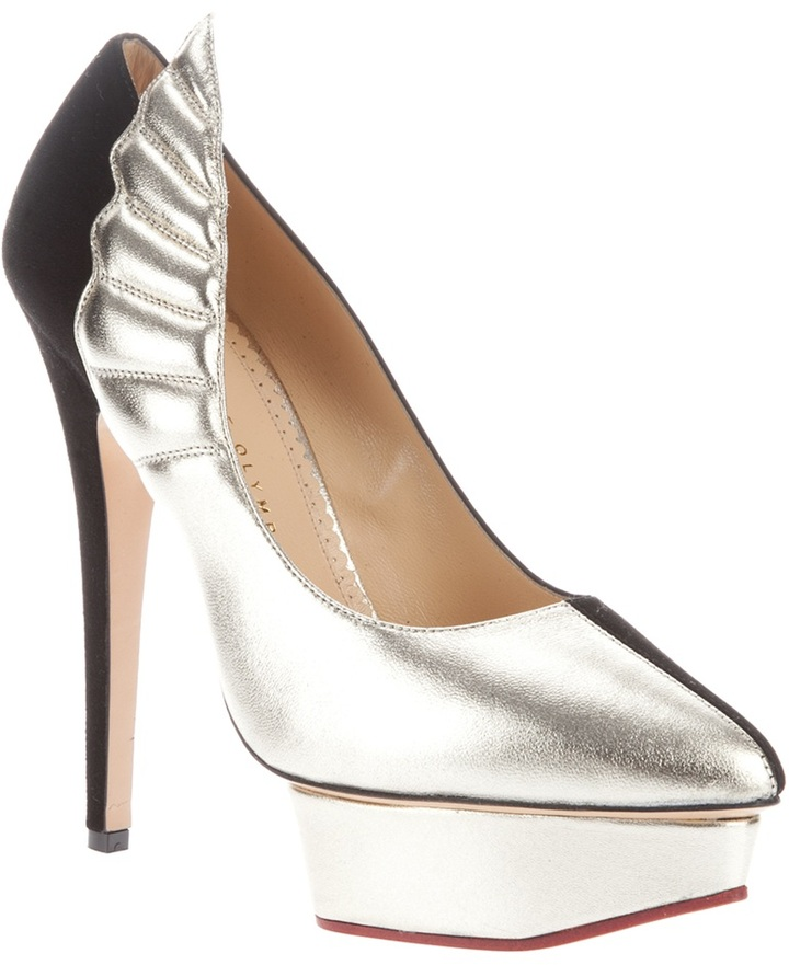 Charlotte Olympia wing detail pump