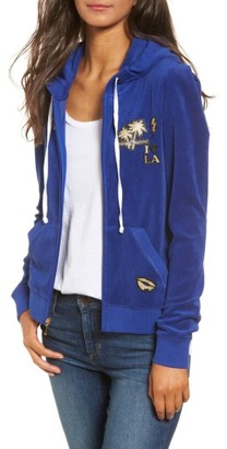 Women's Juicy Couture Venice Beach Microterry Hoodie $128 thestylecure.com