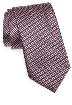 Men's Brioni Houndstooth Silk Tie $230 thestylecure.com