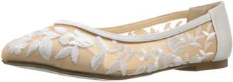 Betsey Johnson Blue Women's Sb-Leah Ballet Flat