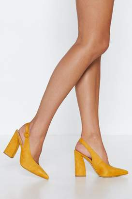 Nasty Gal Point of No Return Slingback Heel