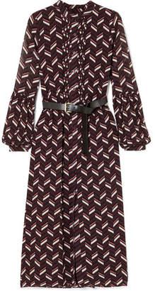 MICHAEL Michael Kors Pintucked Printed Crepe Midi Dress