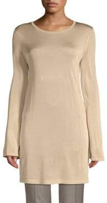 Lafayette 148 New York Textured Flare-Sleeve Tunic