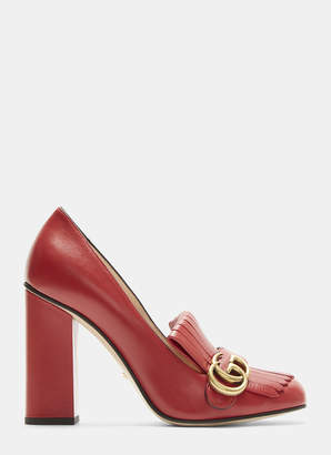03dd1e20ce5f Gucci GG High-Heel Fringed Marmont Pumps in Red