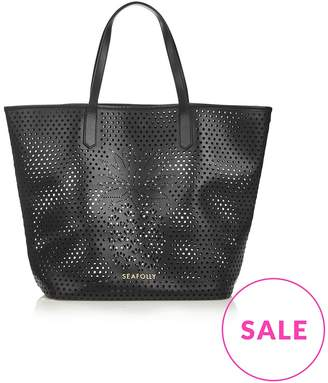 Seafolly Carried Away Laser Cut Pineapple Tote Bag