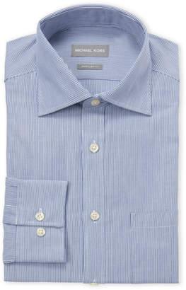 Michael Kors Indigo Rope Regular Fit Dress Shirt