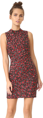 alice + olivia Rosalee Embroidered Mock Neck Dress $895 thestylecure.com