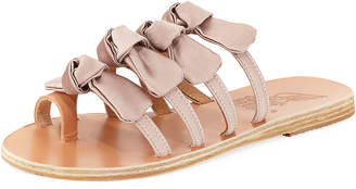 Ancient Greek Sandals Hara Satin Bow Slide Sandal