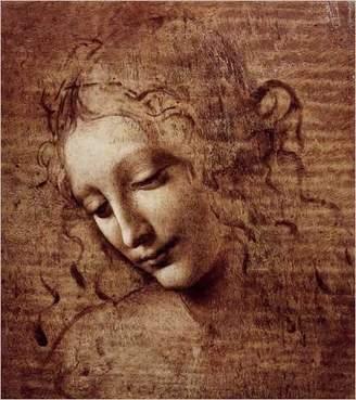 Leonardo Eurographics Female Head (La Scapigliata), c.1508 Art Print Poster by Da Vinci