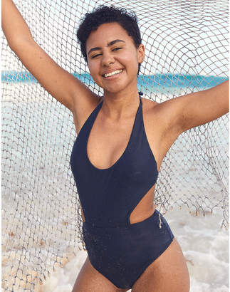 82bd90c41c50a Aerie One Piece Cutout Swimsuit - ShopStyle