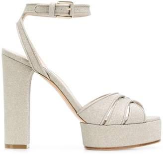 Casadei Flora glitter sandals