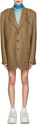 Maison Margiela Women's Checked Wool Tweed Oversized Three-Button Blazer