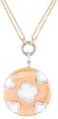Mother of Pearl Chantecler 18K & Diamond Pendant Necklace