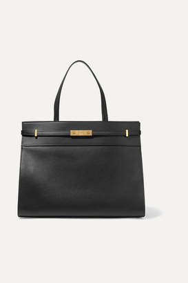 Saint Laurent Manhattan Medium Leather Tote - Black