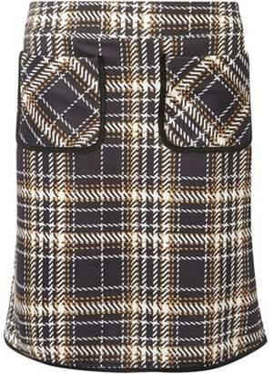 Dorothy Perkins Womens **Tall Multi Coloured Check Pocket Mini Skirt
