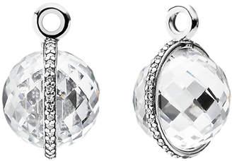 Pandora Midnight Star Silver Cz Earring Charms