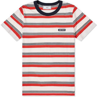 Ami Striped Paris Logo Tee