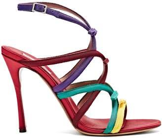 Bowrama grosgrain-bow stiletto sandals