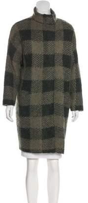Rag & Bone Mohair-Blend Gingham Coat