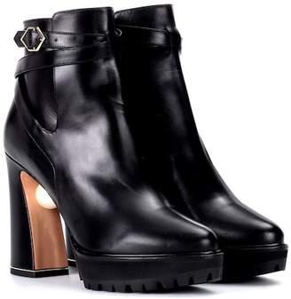 Nicholas Kirkwood Embellished leather ankle boots