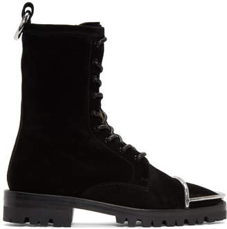 Alexander Wang Black Suede Kennah Boots